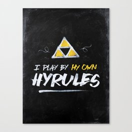 Legend of Zelda Inspired Type I Play by My Own Hyrules Canvas Print