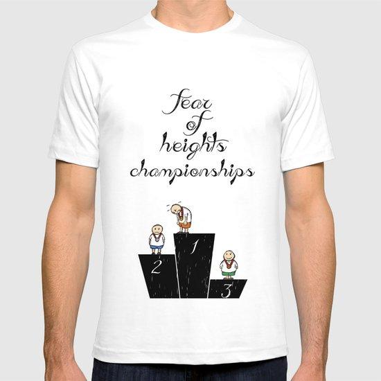 fear of height T-shirt