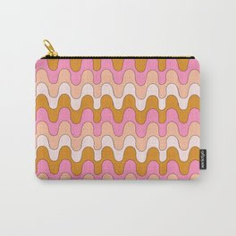 Squiggles - Pink/Orange Carry-All Pouch