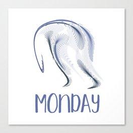 The Monday Blues Canvas Print