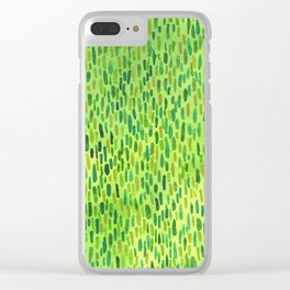 Watercolor Grass Pattern Green by Robayre Clear iPhone Case