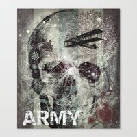 army Canvas Prints featuring Army by JosephusBartin