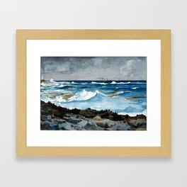 Winslow Homer Shore and Surf, Nassau Framed Art Print