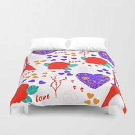 Romantic pattern Duvet Cover