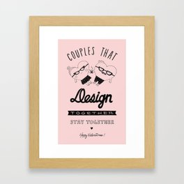 Valentine's for designers Framed Art Print