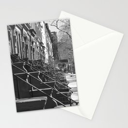 Brownstones in March NYC Stationery Cards