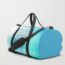 Proverbs 18:10 Bible Quote Duffle Bag