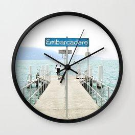 Embarcadère du Léman Wall Clock