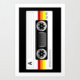Retro audio cassette tape Art Print