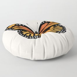 Monarch Butterfly | Vintage Butterfly | Floor Pillow