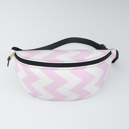 White and Pink Lace Pink Vertical Zigzags Fanny Pack