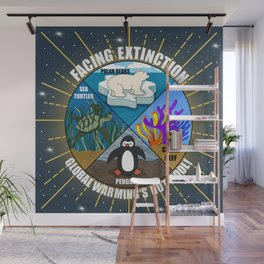 Facing Extinction:  Global Warming's Not Cool 2 Wall Mural