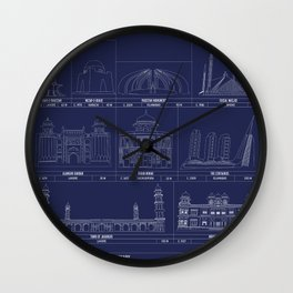 The Architecture of Pakistan Wall Clock