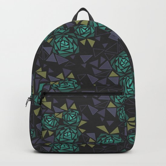 Mosaic Black and green . Backpack