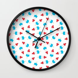 ROCKET ICE CREAM DESSERT FOOD PATTERN Wall Clock