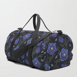 Midnight Hellebore Duffle Bag