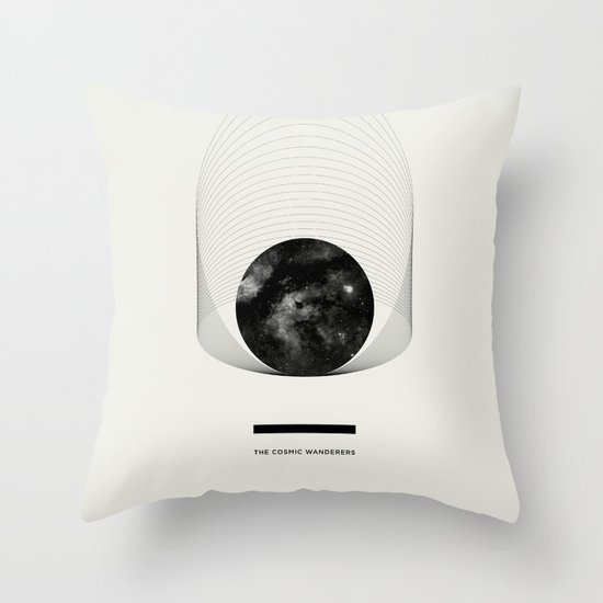 THE COSMIC WANDERERS Throw Pillow