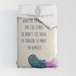 little whaleshark between stars Comforters