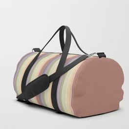 Multi-colored horizontal stripes 1 Duffle Bag