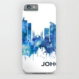 Johor Bahru Malaysia Skyline Blue iPhone Case