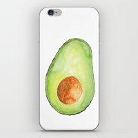 avocado iPhone & iPod Skins featuring Avocado by Bridget Davidson