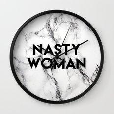 Nasty Woman (marble) Wall Clock