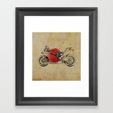 Ducati 1199 Panigale - Original drawing | gift for men and bikers Framed Art Print