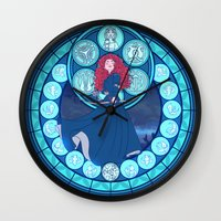 merida Wall Clocks featuring Merida by NicoleGrahamART