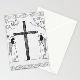 Angels praying Stationery Cards