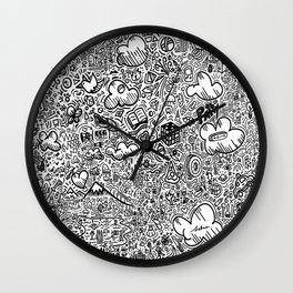 Crazy doodles Wall Clock