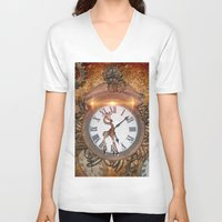 steampunk V-neck T-shirts featuring Steampunk by nicky2342