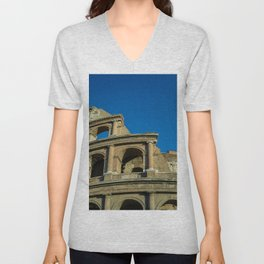 Colosseo da sotto Unisex V-Neck