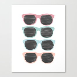 sunglasses x 4 Canvas Print