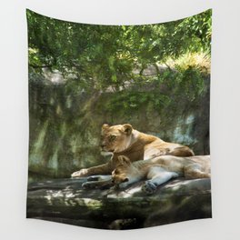 Portland Lioness Wall Tapestry