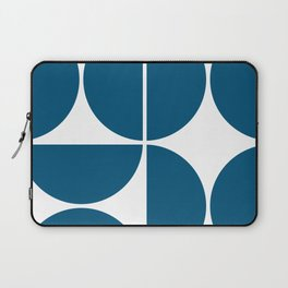 Mid Century Modern Blue Square Laptop Sleeve