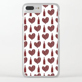 Wine Lover Pattern Clear iPhone Case