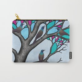 grackles in the stained glass tree Carry-All Pouch
