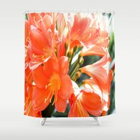 hibiscus Shower Curtains featuring Hibiscus by Megan Phillips