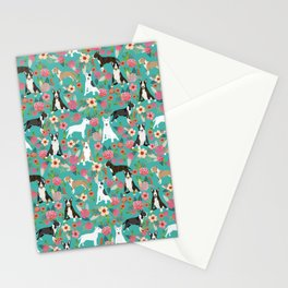 Bull Terrier dog breed pattern florals dog lover gifts pet friendly designs Stationery Cards
