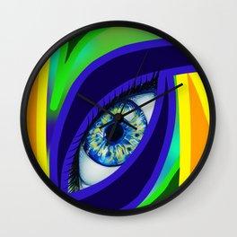 Colorful Eye Wall Clock
