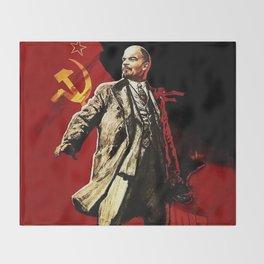Vladimir Lenin Throw Blanket