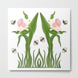Buzzed Daffodils Metal Print