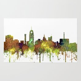 Lansing, Michigan Skyline - Safari Buff Rug