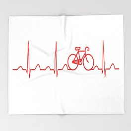 BICYCLE HEARTBEAT Throw Blanket