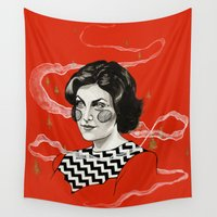 audrey Wall Tapestries featuring Audrey by moon-meat