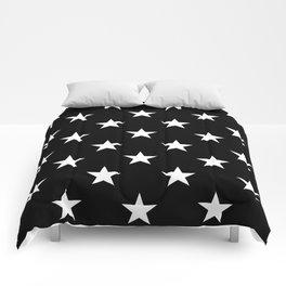 Stars (White/Black) Comforters