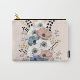 Anemones bouquet pink pastel Carry-All Pouch
