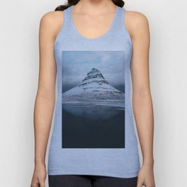 Iceland Mountain Reflection - Landscape Photography Unisex Tank Top