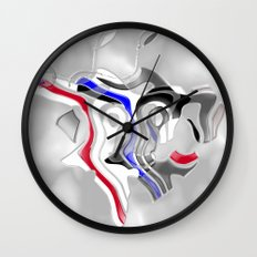 Dance of the Masks Wall Clock
