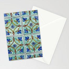 Mediterranean Tiles Illustration Stationery Cards